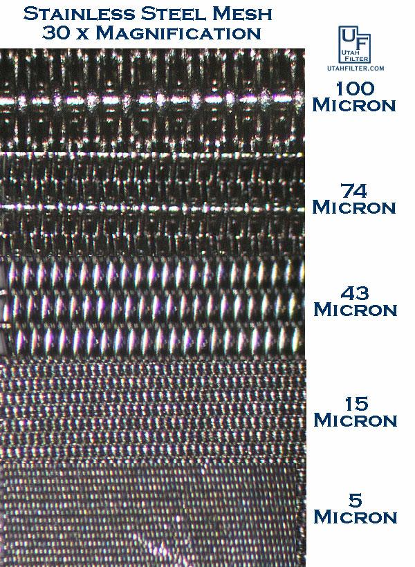 Stainless Steel Micron Rating Examples - Utah Biodiesel