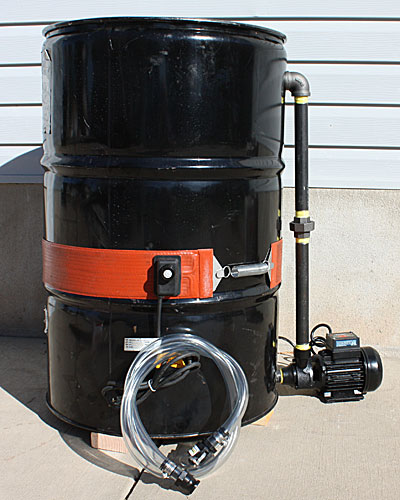 building an oil and biodiesel dewatering tank from a 55 gallon drum