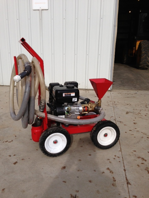 Gas Engine Powered Gear Pump with hoses