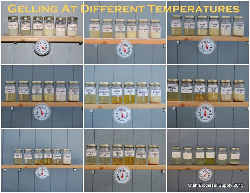 Biodiesel at different temperatures