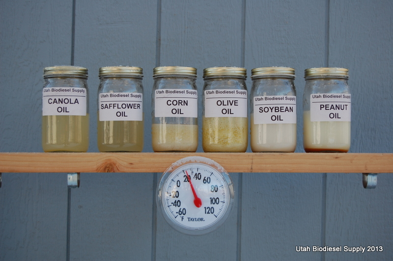 Biodiesel at 22 deg F