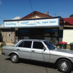 Awesome Mercedes by the Fish & Chip restaurant