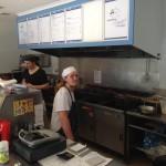Inside the Fish & Chip Restaurant