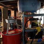 Extreme Raw Power Centrifuge WVO Filtering Setup