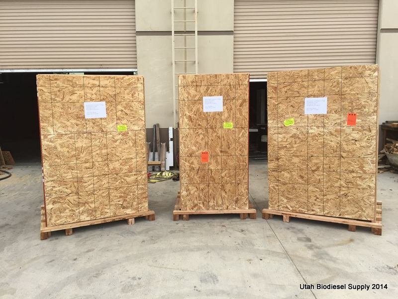 Biodiesel equipment all boxed up & ready to go to 3_27 Testing Biodiesel at Walla Walla Community College