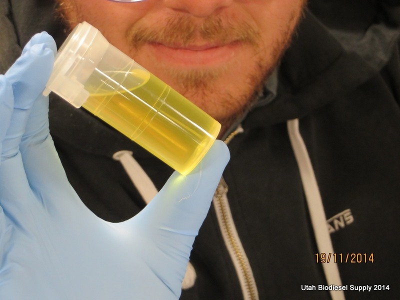 Biodiesel passing a 3/27 test at 3_27 Testing Biodiesel at Walla Walla Community College