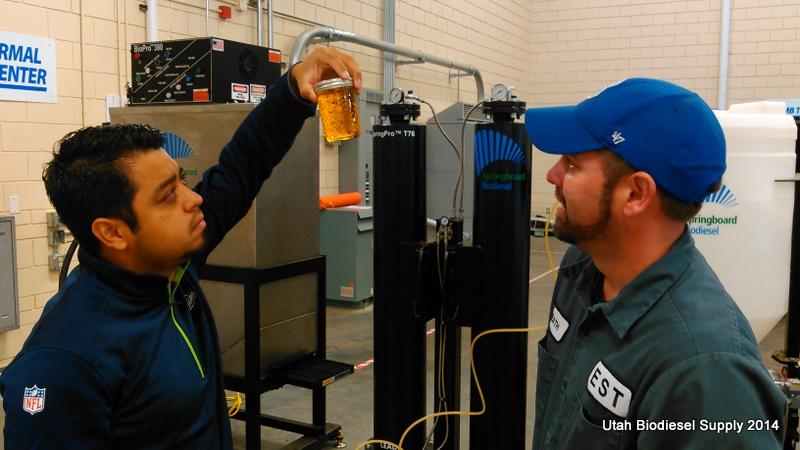 Biodiesel ready for dry washing