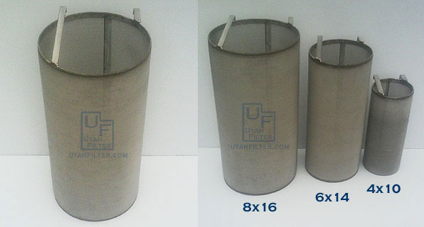 8 inch stainless dry hopper beer filter