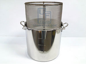 stainless coffee brewing brew in a basket kettle combination package