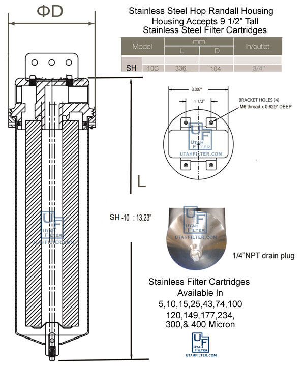 stainless hop randall housing diagram
