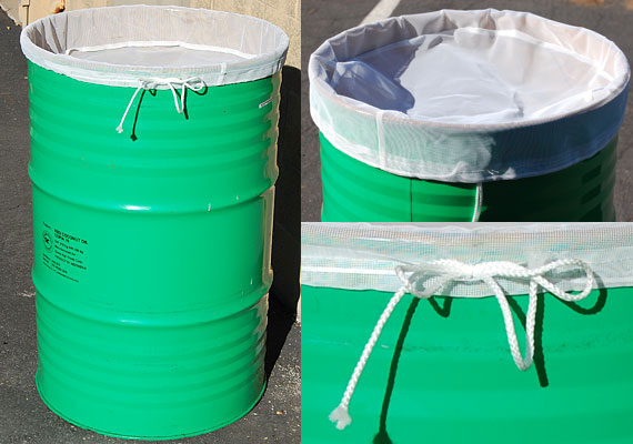 Drum Filter With Draw String Great For Filtering Liquids