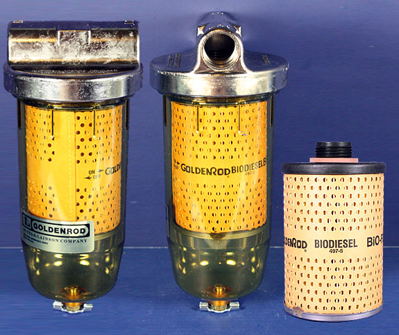 Biodiesel Fuel Filters 10 Micron Filters Goldenrod And