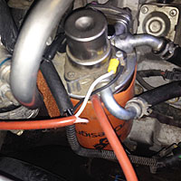 raw power fuel filter heaters keep your vehicle running in the Duramax Fuel Heater Test