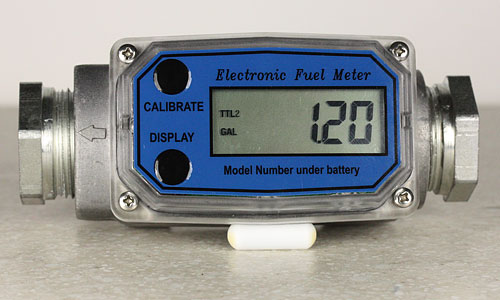Electronic Water Flow Meter : Digital flow meter works with biodiesel waste vegetable