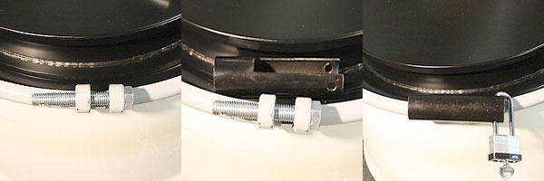 We Start Off Using A Heavy Grade Drum Lid Then Add Duty Locking Ring With Bolt The Isnt Your Average Flimsy Either