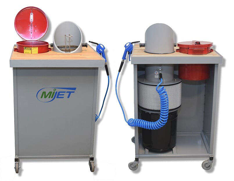 MiJET 8inch Workstation with dip tank and parts basket