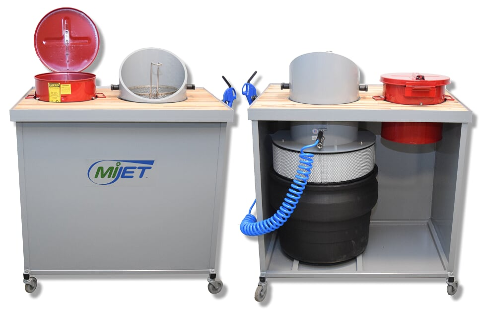 MiJET 12 inch Workstation with dip tank and parts basket