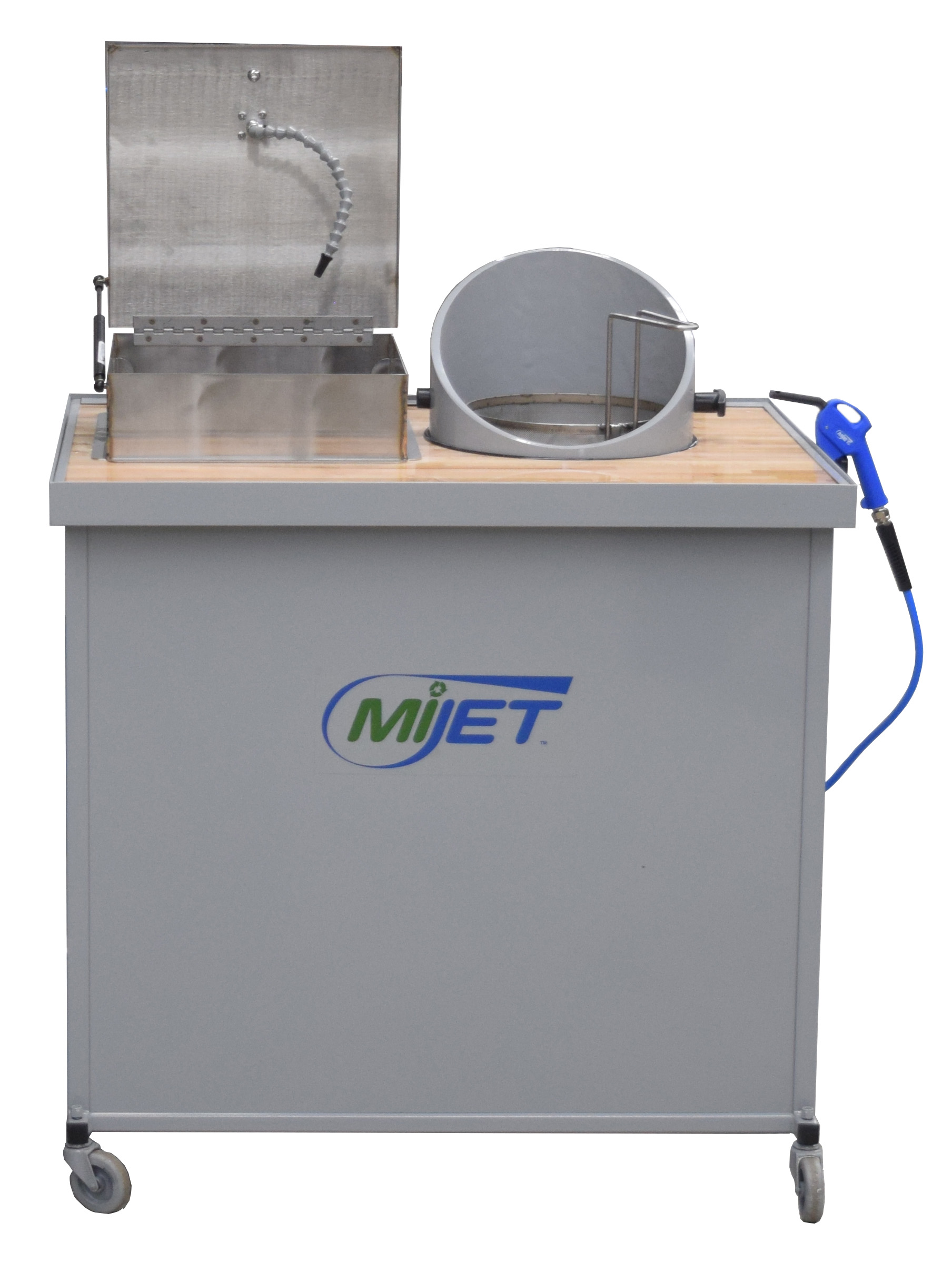 MiJET 12 inch Wash Stations with stainless dip tank and parts basket