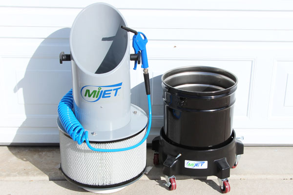 MiJET Parts Cleaner with recycling container taken off