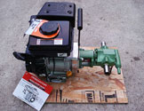 Heavy duty gas engine powered waste oil pump