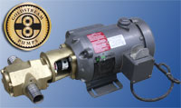 The ultimate waste oil transfer pump, the goldstream monster gear pump in 25, 15, and 10 gallons per minutep