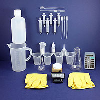 deluxe titration kit for titrating oil for biodiesel production